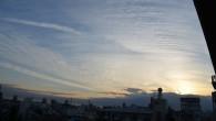 ●夕方の空が凄い事になってました。 ●気持ち悪いくらいのスジスジの雲群
