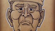 """●渡""""マグロ""""哲也 黙ってる時のどこか遠くを見つめているような顔を なんとなく描いてみたかった。 ほっぺをピンクにぬらないと。"""