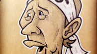 ●アニマル浜口嫁の初枝さん描いてみました。 困ってるというか不安げな表情のイメージです。