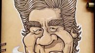 ●藤岡弘、氏 笑った顔も描きたいし、険しい顔も描きたいと思ってて 中途半端な顔に。 最近おばちゃんパーマになったのも描きたいし 毛量が凄く多くて気になるしと 藤岡弘、熱はまだ冷めない感じです。