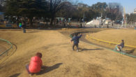 ●子供を実家近くの公園へ。 三連休なのにそんなに混雑もなく平和に遊んでおりました。